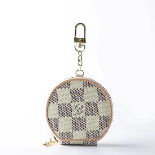 Louis Vuitton Style Zipper Luxury Leather Classic Damier Protective Case For Apple Airpods Pro 1 & 2 - Casememe.com