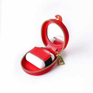 Louis Vuitton Style Zipper Luxury Leather Candy Monogram Protective Case For Apple Airpods Pro 1 & 2 - Casememe.com