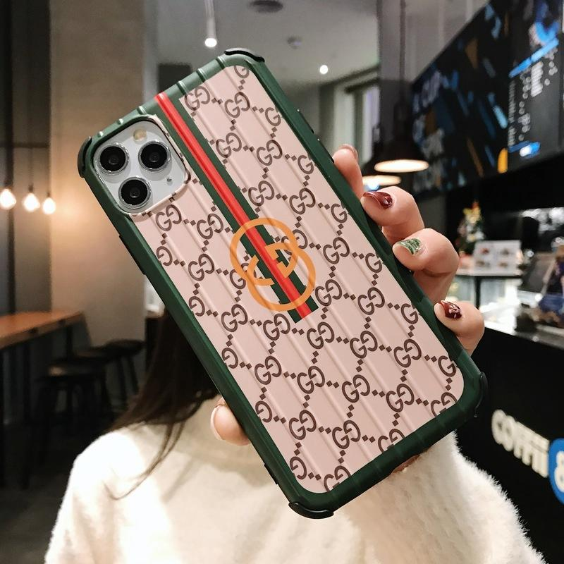 Gucci Style Corner Protection Protective Designer iPhone Case For iPhone SE 11 Pro Max X XS Max XR 7 8 Plus - Casememe.com