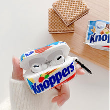 Load image into Gallery viewer, Knoppers Chocolate Silicone Protective Case For Apple Airpods 1 & 2 & Pro - Casememe.com