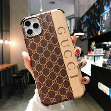 Load image into Gallery viewer, Gucci Style Corner Protection Protective Designer iPhone Case For iPhone SE 11 Pro Max X XS Max XR 7 8 Plus - Casememe.com
