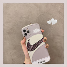 Load image into Gallery viewer, Christian Dior x Nike Style Shockproof Protective Designer iPhone Case For iPhone SE 11 Pro Max X XS Max XR 7 8 Plus - Casememe.com