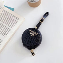 Load image into Gallery viewer, Prada Style Round Leather Pouch Protective Case For Apple Airpods 1 & 2 & Pro - Casememe.com