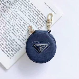 Prada Style Round Pouch Protective Case For Apple Airpods 1 & 2 & Pro - Casememe.com