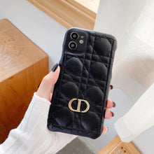 Load image into Gallery viewer, Christian Dior Style Leather Shockproof Protective Designer iPhone Case For iPhone SE 11 Pro Max X XS Max XR 7 8 Plus - Casememe.com