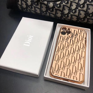 Christian Dior Style Electroplating Shockproof Protective Designer iPhone Case For iPhone SE 11 Pro Max X XS Max XR 7 8 Plus - Casememe.com