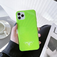 Load image into Gallery viewer, Prada Style Silicone Shockproof Protective Designer iPhone Case For iPhone 12 SE 11 Pro Max X XS Max XR 7 8 Plus - Casememe.com
