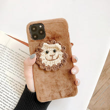 Load image into Gallery viewer, Embroidery Frog Piggy Suede Silicone Shockproof Protective Designer iPhone Case For iPhone 11 Pro Max X XS Max XR 7 8 Plus - Casememe.com