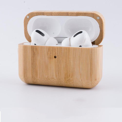 Wooden Bumper Shockproof Protective Case For Apple Airpods Pro - Casememe.com
