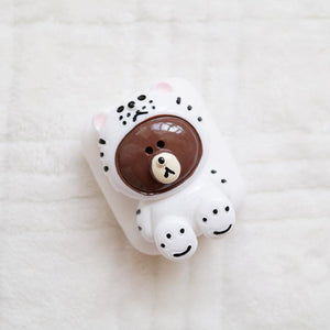 LINE Friends Bear Silicone Protective Shockproof Case For Apple Airpods 1 & 2 - Casememe.com
