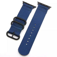 Load image into Gallery viewer, Stripe Nylon Durable Compatible With Apple Watch 38mm 40mm 42mm 44mm Band Strap For iWatch Series 4/3/2/1 - Casememe.com