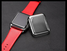 Load image into Gallery viewer, Electroplating Transparent Clear Compatible With Apple Watch Case 38mm 40mm 42mm 44mm For iWatch Series 4/3/2/1 - Casememe.com