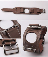 Load image into Gallery viewer, MORE COLORS Genuine Leather Durable Compatible With Apple Watch iWatch 38mm 40mm 42mm 44mm Band Strap For iWatch Series 4/3/2/1 - Casememe.com