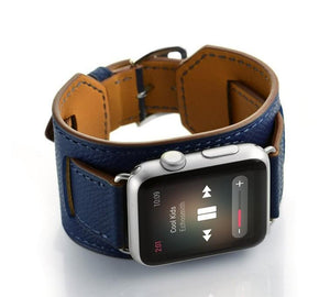 MORE COLORS Genuine Leather Durable Compatible With Apple Watch iWatch 38mm 40mm 42mm 44mm Band Strap For iWatch Series 4/3/2/1 - Casememe.com