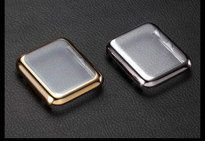 Electroplating Transparent Clear Compatible With Apple Watch Case 38mm 40mm 42mm 44mm For iWatch Series 4/3/2/1 - Casememe.com