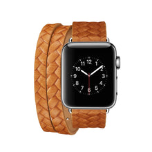 Load image into Gallery viewer, Hermes Style Leather Double Loop Weaving Compatible With Apple Watch 38mm 40mm 42mm 44mm Band Strap For iWatch Series 4/3/2/1 - Casememe.com