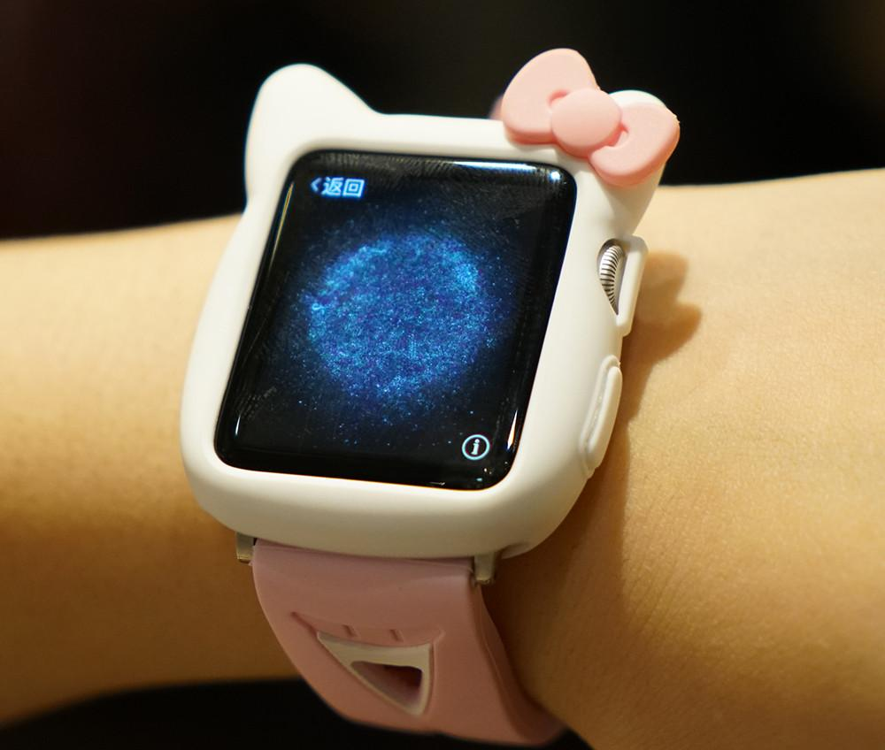 489338bdf ... Load image into Gallery viewer, Hello Kitty Style Compatible With Apple  Watch Silicone Case 38mm ...