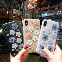 Load image into Gallery viewer, Cute Floral Glitter Leather Designer iPhone Case For iPhone SE 11 Pro Max X XS XS Max XR 7 8 Plus - Casememe.com