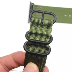 Stripe Nylon Durable Compatible With Apple Watch 38mm 40mm 42mm 44mm Band Strap For iWatch Series 4/3/2/1 - Casememe.com