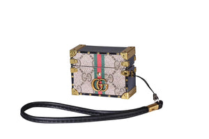 Gucci Style Classic Marmont Trunk Protective Case For Apple Airpods Pro - Casememe.com