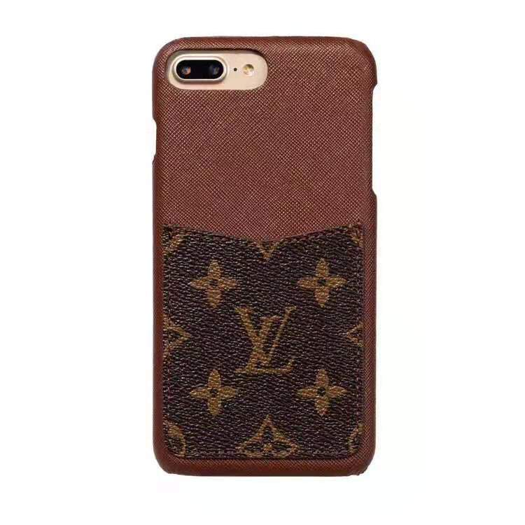 best loved c9c63 57828 Louis Vuitton Style Monogram Leather Cardholder Designer iPhone Case For  iPhone X XS XS Max XR 7 8 Plus