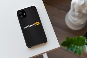 StayHome Hub Designer iPhone Case For iPhone SE 11 Pro Max X XS Max XR 7 8 Plus - Casememe.com