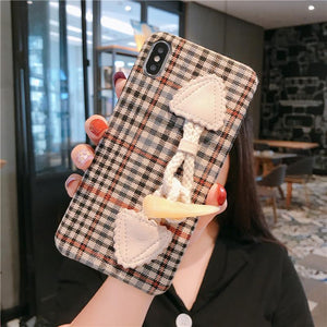 Hand Strap Shockproof Protective Designer iPhone Case For iPhone 11 Pro Max X XS Max XR 7 8 Plus - Casememe.com