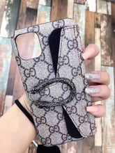 Load image into Gallery viewer, GC Style Dionysus Leather Designer iPhone Case For iPhone 12 SE 11 Pro Max X XS XS Max XR 7 8 Plus - Casememe.com