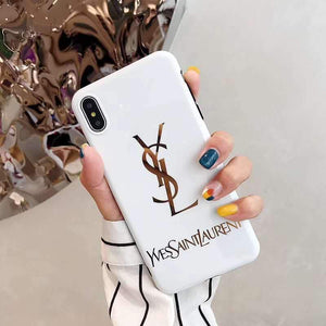 Saint Laurent Paris YSL Style Electroplating Glossy TPU Silicone Designer iPhone Case For iPhone 12 SE 11 Pro Max X XS XS Max XR 7 8 Plus - Casememe.com