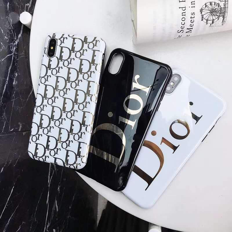 factory authentic 91b53 d4d6e Dior Style Electroplating Glossy TPU Silicone Designer iPhone Case For  iPhone X XS XS Max XR 7 8 Plus