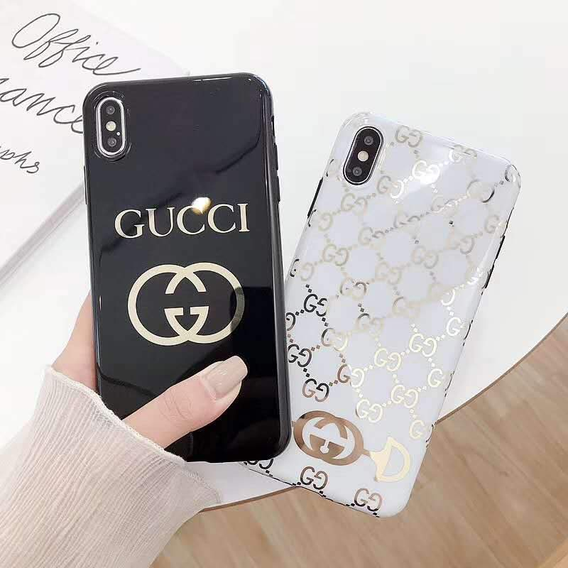 new concept 219f7 a2b63 Gucci Style Electroplating Glossy TPU Silicone Designer iPhone Case For  iPhone X XS XS Max XR 7 8 Plus