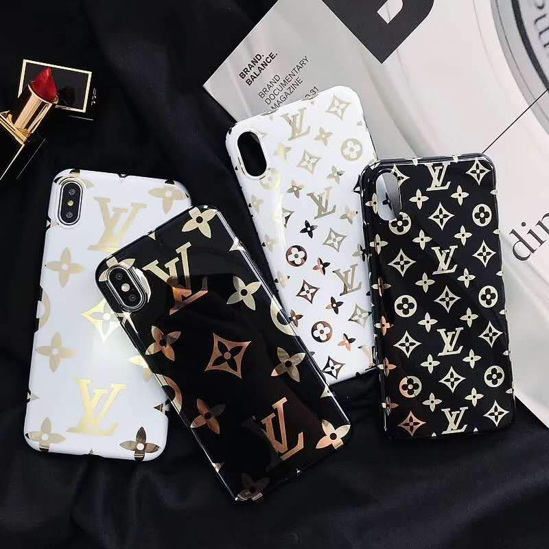 Louis Vuitton Style Monogram Electroplating Glossy TPU Silicone Designer  iPhone Case For iPhone X XS XS Max XR 7 8 Plus