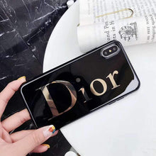 Load image into Gallery viewer, Dior Style Electroplating Glossy TPU Silicone Designer iPhone Case For iPhone 12 SE 11 Pro Max X XS XS Max XR 7 8 Plus - Casememe.com