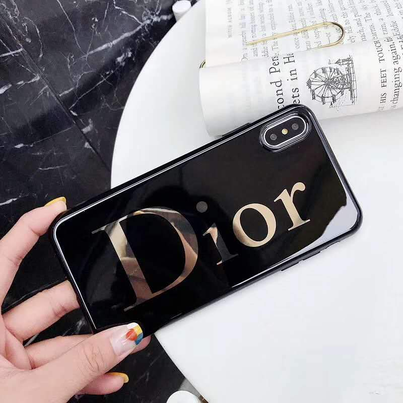 Dior Style Electroplating Glossy TPU Silicone Designer iPhone Case For iPhone SE 11 Pro Max X XS XS Max XR 7 8 Plus - Casememe.com