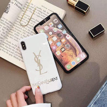 Load image into Gallery viewer, Saint Laurent Paris YSL Style Electroplating Glossy TPU Silicone Designer iPhone Case For iPhone SE 11 Pro Max X XS XS Max XR 7 8 Plus - Casememe.com