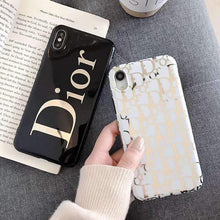 Load image into Gallery viewer, Dior Style Electroplating Glossy TPU Silicone Designer iPhone Case For iPhone SE 11 Pro Max X XS XS Max XR 7 8 Plus - Casememe.com