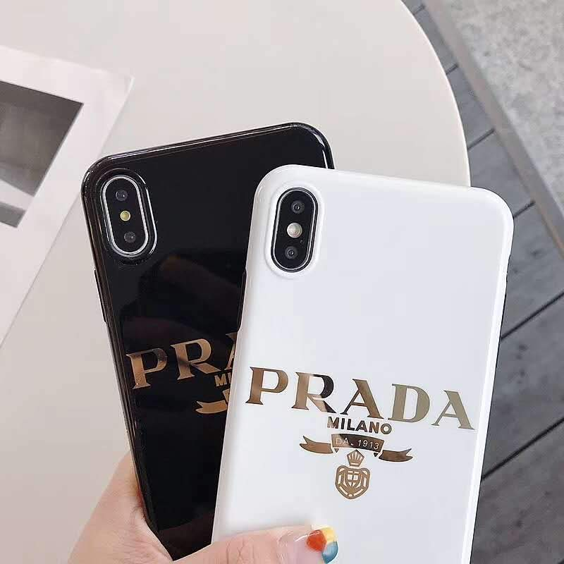 sale retailer 3ccb4 73f78 Prada Style Electroplating Glossy TPU Silicone Designer iPhone Case For  iPhone X XS XS Max XR 7 8 Plus
