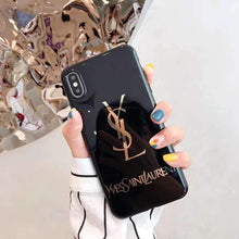 Load image into Gallery viewer, Saint Laurent Paris YSL Style Electroplating Glossy TPU Silicone Designer iPhone Case For iPhone 12 SE 11 Pro Max X XS XS Max XR 7 8 Plus - Casememe.com
