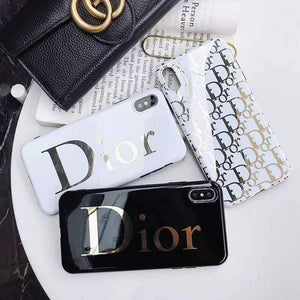 Dior Style Electroplating Glossy TPU Silicone Designer iPhone Case For iPhone 12 SE 11 Pro Max X XS XS Max XR 7 8 Plus - Casememe.com