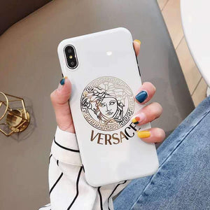 Versace Style Electroplating Glossy TPU Silicone Designer iPhone Case For iPhone 12 SE 11 Pro Max X XS XS Max XR 7 8 Plus - Casememe.com