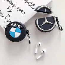 Load image into Gallery viewer, BMW Mercedes Benz Style Black Silicone Protective Shockproof Case For Apple Airpods 1 & 2 - Casememe.com