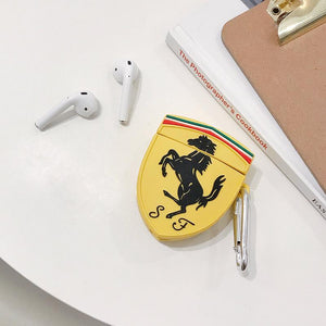 Porsche Ferrari Style Yellow Silicone Protective Shockproof Case For Apple Airpods 1 & 2 - Casememe.com