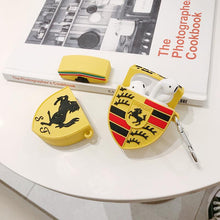 Load image into Gallery viewer, Porsche Ferrari Style Yellow Silicone Protective Shockproof Case For Apple Airpods 1 & 2 - Casememe.com