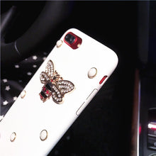Load image into Gallery viewer, Gucci Style Pearl Rhinestone Honeybee Luxury Leather Designer iPhone Case For iPhone X XS XS Max XR - Casememe.com