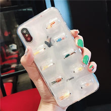 Load image into Gallery viewer, Cute 3D Capsule Pills Transparent Silicone Airbag iPhone Case For iPhone SE 11 PRO MAX X  XS  XS Max XR - Casememe.com