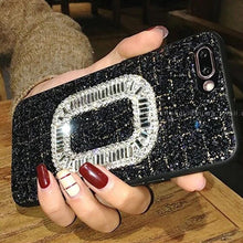Load image into Gallery viewer, Luxury Roger Vivier Style Diamond Ring Glitter Bling Leather Designer iPhone Case For iPhone SE 11 Pro Max X XS Max XR 7 8 Plus - Casememe.com