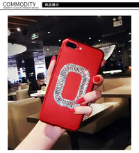 Load image into Gallery viewer, Roger Vivier Style Rhinestone Luxury Bling Diamond Square Carbon Fiber Designer iPhone Case For iPhone X XS XS Max XR 7 8 Plus - Casememe.com