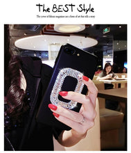 Load image into Gallery viewer, Roger Vivier Style Rhinestone Luxury Bling Diamond Square Carbon Fiber Designer iPhone Case For iPhone SE 11 PRO MAX X XS XS Max XR 7 8 Plus - Casememe.com