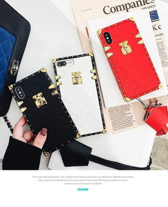 Luxury Golden Vintage Perfume Trunk Fashion Leather Designer iPhone Cases For iPhone SE 11 PRO MAX X XS XS Max XR - Casememe.com