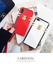 Load image into Gallery viewer, Luxury Golden Vintage Perfume Trunk Fashion Leather Designer iPhone Cases For iPhone X XS XS Max XR - Casememe.com